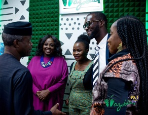 First pidgin interview by a Nigerian Vice President Prof Osinbanjo on the first pidgin station Wazobia FM 95.1