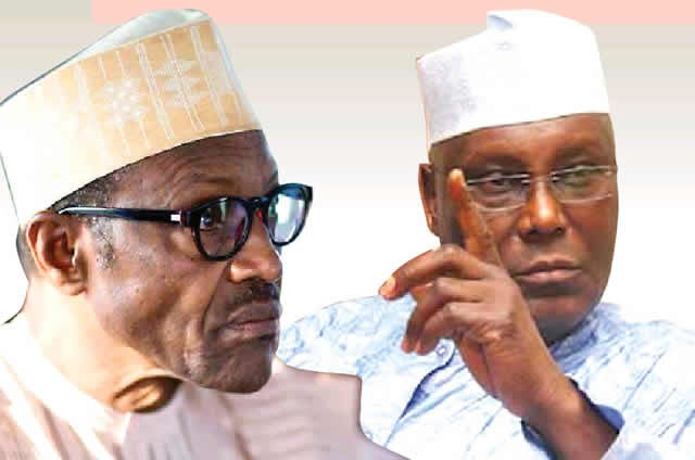 This image has an empty alt attribute; its file name is buhari-vs-atiku2.jpg